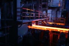 Impianti del ferro di fabbricazione dell'acciaio fotografie stock libere da diritti