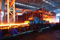 Impianti del ferro di fabbricazione dell'acciaio immagine stock libera da diritti