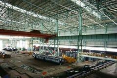 Impianti del ferro di fabbricazione dell'acciaio immagini stock libere da diritti