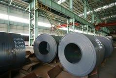 Impianti del ferro di fabbricazione dell'acciaio immagini stock