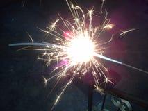 Impianti del fuoco di Diwali Immagini Stock Libere da Diritti