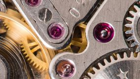 Impianti del meccanismo dell'orologio stock footage