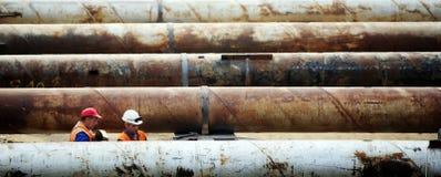 Impianti del tubo della costruzione Fotografia Stock