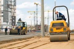 Impianti della costruzione di strade fotografie stock