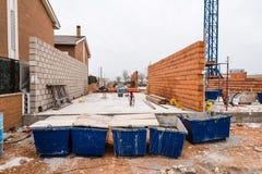 Impianti di costruzione del blocchetto termico dell'argilla e del blocco in calcestruzzo Immagini Stock Libere da Diritti