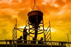 Impianti di versamento concreti Fotografie Stock