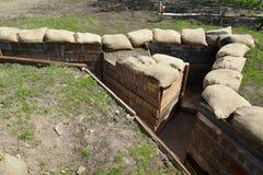 Impianti difensivi dei periodi della prima guerra mondiale Militare e storico immagini stock libere da diritti