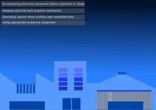 Impianti elettrici, pratiche sicure Immagine Stock