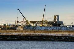 Impianti per il insallation dell'impianto offshore Immagini Stock Libere da Diritti