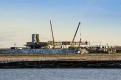Impianti per l'installazione dell'impianto offshore Fotografia Stock