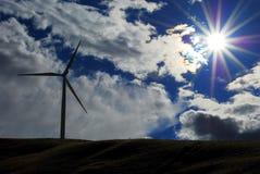 Impianto agricolo a fini energetici di energia eolica - stato di Washinton fotografie stock libere da diritti
