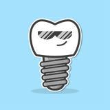 Impianto dentario del fumetto Immagine Stock