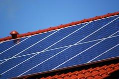 Impianto di ad energia solare Immagini Stock