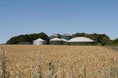 Impianto di biogas Fotografia Stock