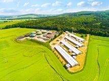 Impianto di biogas ed azienda agricola Fotografie Stock