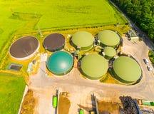 Impianto di biogas ed azienda agricola Fotografia Stock