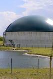 Impianto di biogas nuovo e moderno Fotografia Stock