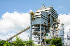 Impianto di energia della biomassa Immagini Stock Libere da Diritti