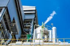 Impianto di energia della biomassa Fotografia Stock Libera da Diritti
