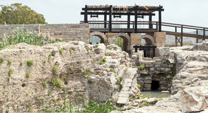 Impianto di irrigazione antico nell'Israele fotografia stock libera da diritti