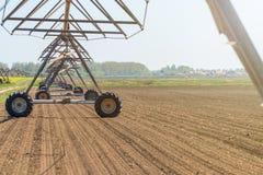 Impianto di irrigazione concentrare del perno nel campo agricoltura Fotografia Stock