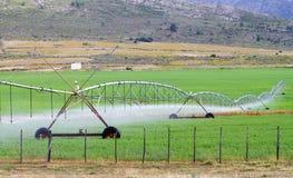 Impianto di irrigazione del campo Fotografie Stock Libere da Diritti