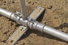 Impianto di irrigazione dell'acqua Immagini Stock