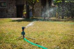 Impianto di irrigazione del giardino Fotografia Stock