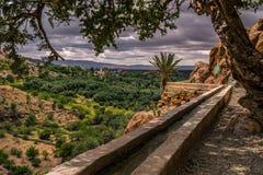 Impianto di irrigazione nelle colline, Nord Africa, Marocco fotografie stock libere da diritti