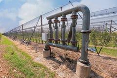 Impianto di irrigazione per agricoltura Fotografia Stock