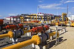 Impianto di lavorazione del gas e del petrolio Fotografie Stock Libere da Diritti