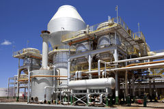 Impianto di lavorazione del mulino industriale della canna da zucchero nel Brasile Fotografia Stock