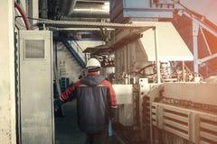 Impianto di lavorazione residuo Processo tecnologico Riciclando e deposito dei rifiuti per ulteriore disposizione Affare per ordi Fotografie Stock Libere da Diritti