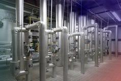 Impianto di per il trattamento dell'acqua Immagini Stock