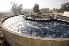 Impianto di per il trattamento dell'acqua Fotografia Stock
