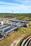 Impianto di per il trattamento dell'acqua industriale Fotografia Stock Libera da Diritti