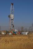 Impianto di perforazione della trivellazione petrolifera Fotografia Stock