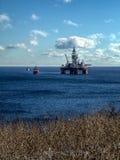 Impianto di perforazione offshore Immagini Stock Libere da Diritti