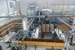 Impianto di produzione del formaggio e del latte fotografia stock libera da diritti
