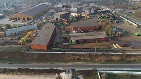 Impianto di riciclaggio del metallo, iarda del residuo, in considerazione del fuco stock footage