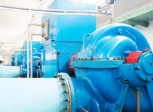 Impianto di trattamento delle acque reflue Immagini Stock