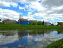 Impianto di trattamento delle acque reflue immagine stock