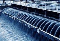 Impianto di trattamento delle acque reflue urbano moderno a Schang-Hai Fotografia Stock Libera da Diritti