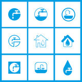 Impianto idraulico con acqua Fotografia Stock