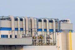 Impianto industriale del petrochimico di Imanufactory Immagini Stock Libere da Diritti