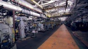Impianto industriale dentro stock footage