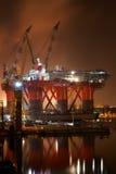 Impianto offshore Immagini Stock Libere da Diritti