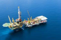 Impianto offshore Fotografia Stock Libera da Diritti