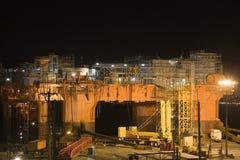 Impianto offshore in bacino di carenaggio Fotografie Stock Libere da Diritti