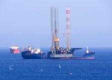 Impianto offshore e del gas nel Cipro Piattaforma offshore Fotografia Stock